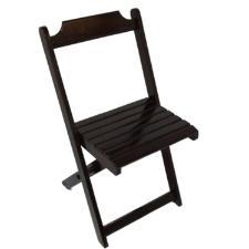 Cadeira Dobravel De Madeira Preto Madesil 120kg