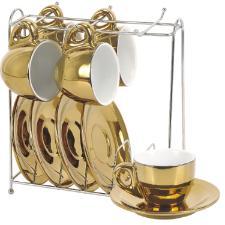 Jogo  porcelana dourada 12 pcs para café  70066 FULL-FIT