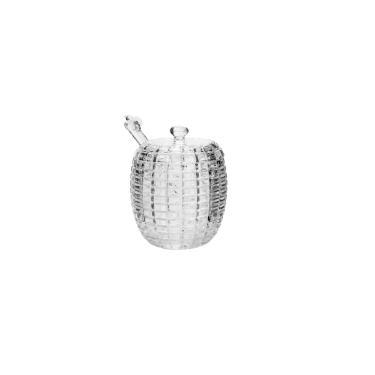 Meleira Abelha em cristal com pegador e tampa 210ml