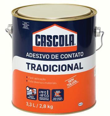 COLA CASCOLA DE CONTATO COMUM S/TOLUOL 2,8KG